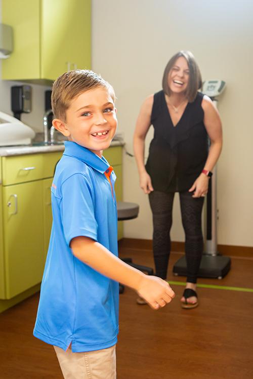 Happy boy patient